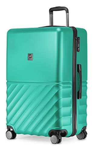 HAUPTSTADTKOFFER - Boxi - Hartschalen-Koffer Koffer Trolley Rollkoffer Reisekoffer 4 Rollen, TSA, 75 cm, 108 Liter, Türkis
