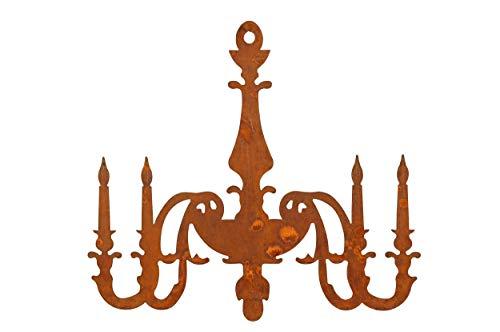 KUHEIGA Kerzenleuchter-Aufhänger aus robustem Metall (53xH48cm) mit Edelrost-Patina.