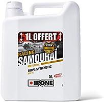 Ipone 800092 Huile Moteur Moto 2 Temps Samouraï Racing-100% Synthétique avec Esters-Lubrifiant Haute Performance-Bidon 4...