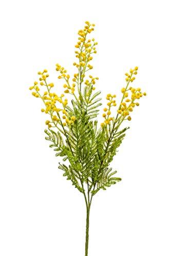 artplants.de Kunstzweig Mimose AQUILINA, gelb, 70cm - Kunst Akazien Zweig