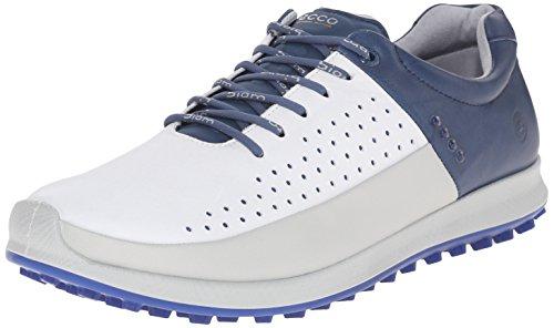 Ecco Golf Biom Hybrid 2 - Zapatos de golf para hombre, Multicolor (CONCRETE/WHITE/DENIUM BLUE56416), talla 43 EU