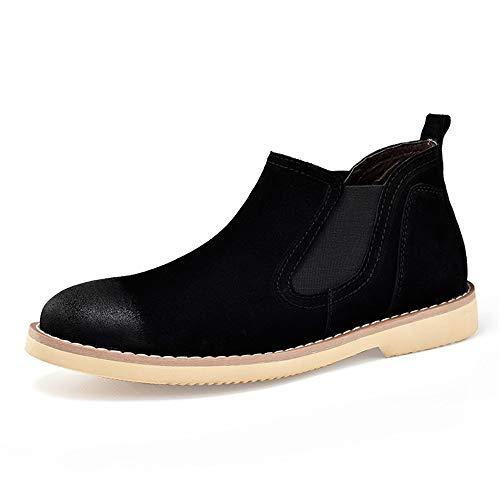 Chenyuying Chelsea Botas de Cuero Genuino Ocasional clásico de Mitad de la Parte Superior de los Hombres británicos Restauración de los Zapatos de Las Maneras Antiguas de Trabajo