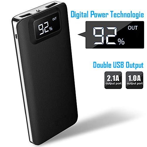 Forme powerbank externe accu 12000mAh met zaklamp Power Bank externe mobiele telefoon accu's I draagbare oplader I hoge capaciteit LCD Smart Digitaal display I batterij Pack I 2 USB-uitgang