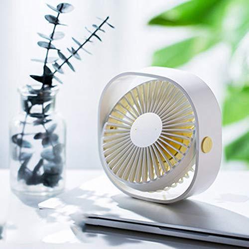 XWSQ Ventilador de Escritorio USB de enfriamiento portátil de 3 velocidades Personal con ángulo Ajustable de rotación de 360 para Viajes en el hogar de la Oficina, Alimentado por USB