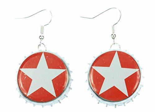 Miniblings Capsules étoiles cintre Boucles doreille Sterni Bière de Noël Berlin - Bijoux Fashion main argenté Boucles doreille