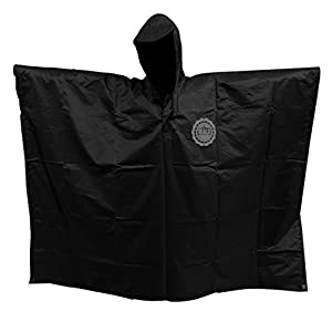 SEAL3 Rain Poncho - Waterproof, Hooded, Heavy Duty PVC Raincoat-Gear. All Outdoor Multi-Use- Hunting, Backpack, Survival, Emergency, Military or Stadium. Adult Men-Women-Kids in Darkwood Camo.