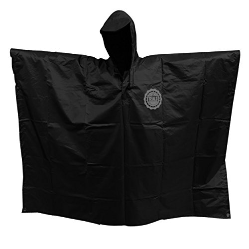 SEAL3 Rain Poncho - Waterproof, Hooded, Heavy Duty PVC Raincoat-Gear. All Outdoor Multi-Use- Hunting, Backpack, Survival, Emergency, Military or Stadium. Adult Men-Women-Kids in Safe Orange.