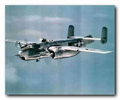Manta de 152,4 x 127 cm, cómoda y cálida manta de felpa suave para sofá militar B-25 Mitchell. Lt. Bomber Airplane Jet Vintage