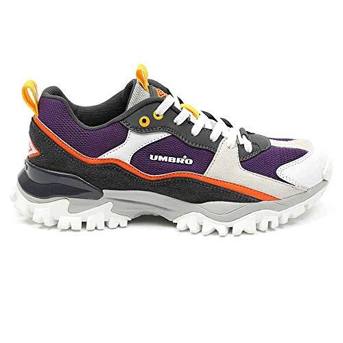 UMBRO Herren Bumpy Leichtathletik-Schuh, Weiß, lila, 45 EU