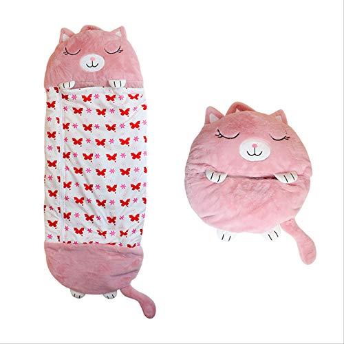 Happy Kids Nappers Spielkissen, Babyschlafsack, Fun Schlafsack Faltbarer Soft Kids Tierschlafsack, Plüsch-Einhorn-Schlafsack