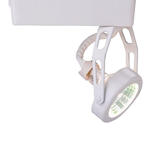 Halo LZR401P Lazer Low Voltage Gimbal Ring Lamp Holder with Electronic Transformer, White, MR16