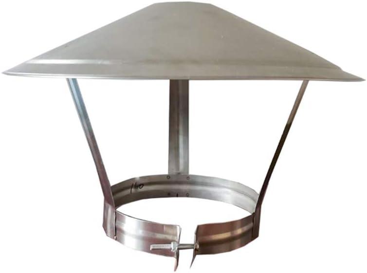 LTLCBB Sombrero Extractor De Humo Estufa De LeÑa Negro Vitrificado 75-250mm (milÍmetros) Ideal Estufas Chimeneas Hogar Piso,150mm