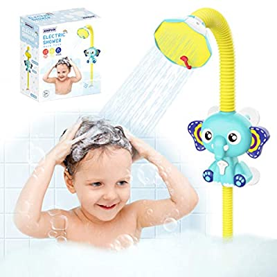 Baby Bath Toys for Toddlers 3-4 Years Old Electric Automatic Elephant Water Pump with Hand Shower Sprinkler Bathtub Bath Toys for Toddlers 1-3 Baby Bathtub Toys for Kids Ages 4-8