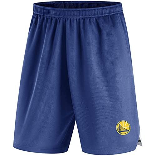 BMSD Hombres Jersey NBA Warriors Jersey Shorts Jersey Casual Baloncesto Pantalones Azules, L