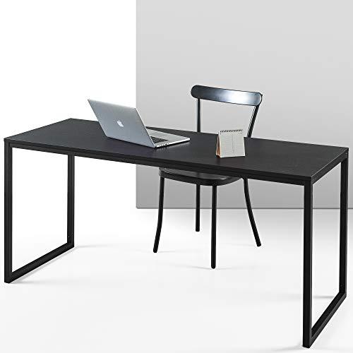 ZINUS Jennifer 160 cm Escritorio para ordenador portátil | Escritorio de estudio para oficina en casa | Montaje sencillo | Estructura metálica | Espresso profundo