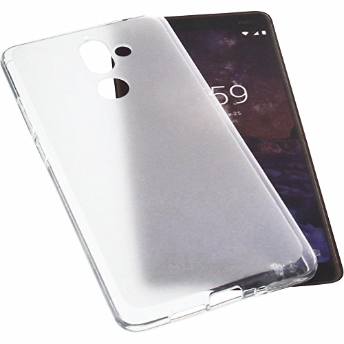 foto-kontor Funda para Nokia 7 Plus Protectora de Goma TPU para móvil Transparente Blanca