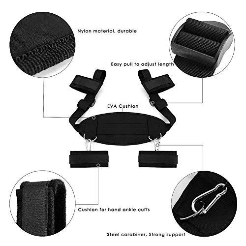 B086WYL3QR Kit di nylon nero regolabile resistente per coppia