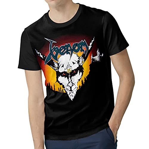 Men Polyester Soft Short Sleeve top V`enom&Band Music Band Round Neck T Shirts Suitable for Four Seasons XX-Large Black