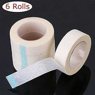 ATOMUS 6 Rolls Medical Tape for Eyelash Extensions White Non-woven Fabrics Eyelash Tape