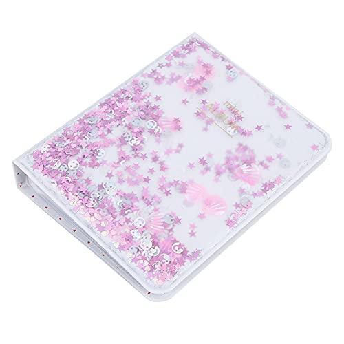 Plakboek, transparant mini-fotoalbum Plakboek-fotoalbum Klein lichaam met grote capaciteit voor Instax-camerafotos(pink)