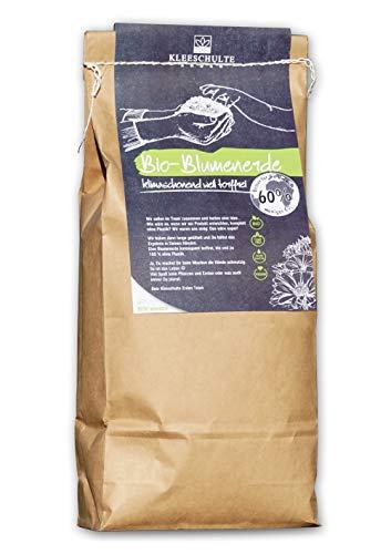 Kleeschulte Bio Blumenerde 5 Liter im Paper Bag - völlig umweltfreundliche Papier-Verpackung, vegan gedüngt und in Bio Qualität, 60% CO2 Reduzierung