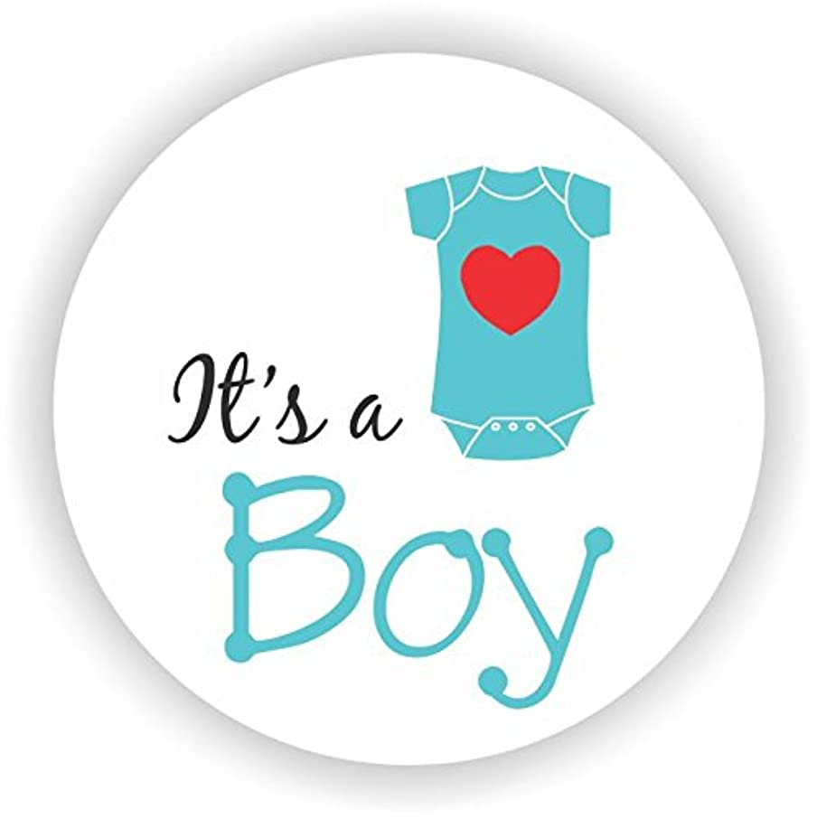 Philly Art & Crafts - Baby Boy Shower Stickers - It's a Boy Stickers - Favor Stickers - Baby Shower Favor Stickers - Set of 40 Stickers (Turquoise)