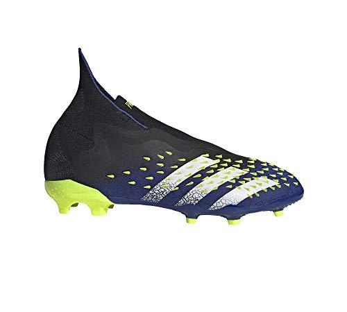 adidas Predator Freak + FG Niño, Bota de fútbol, Black-White-Solar Yellow, Talla 5 UK (38 EU)