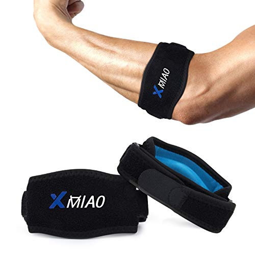 Elbow Brace,XMIAO Adjustable Straps Tennis Elbow Braces with Compression Pad,Effective Pain Relief for Tennis&Golfers, Tendonitis, Lateral&Medial Epicondylitis for Both Men and Women-2 Pack (Blue)