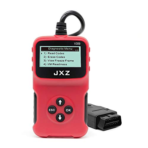 JXZ Auto Scan OBD-II OBD2 Code Reader Portable Scanner Diagnostic Tool for Cars Compliant All 1996 and Newer Automotive (OBD II V309)