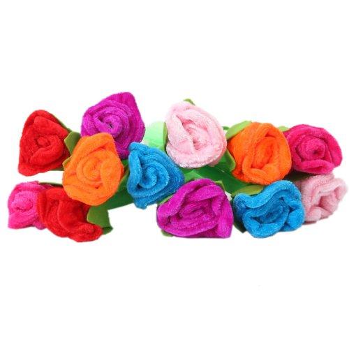 SDENSHI 12pcs coloridas de peluche rosas flores azules tinta bolígrafo Novedad papel de carta regalo
