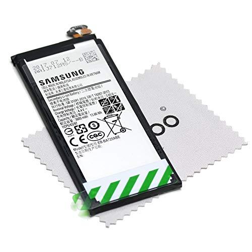 Batería para Samsung Original para Samsung Galaxy A7 2017 (A720F)/J7 2017 (J730F) EB-BA720ABE con mungoo Pantalla paño de Limpieza