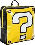Bioworld Mochila para Nintendo Super Mario Bros. con forma de caja de interrogación, color negro (Bp990402Ntn) Casual Daypack, 37 cm, 10 L, amarillo