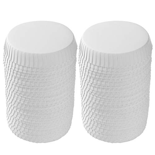 iEFiEL 100Pcs Disposable Paper Cup Lids Dust Proof Coffee Cup Paper Covers Drinking Lid Cup Lids for Coffee Shops Restaurant Hotel KTV Bars White 80mm