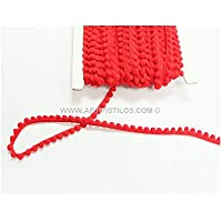 Artipistilos® Pasamaneria Mini Madroño - 1 Mt. X 1 Cm, Rojo - Galón Con Chenillas