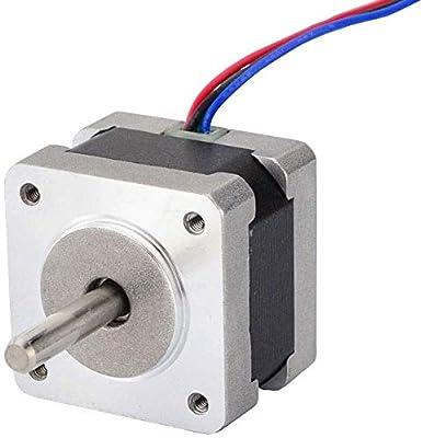 Nema 14 Stepper Motor 11Ncm/15.6oz.in 0.9deg(400 Steps/rev) 0.4A Bipolar 4-Lead for DIY CNC 3D Printer 3D Printing Accessories
