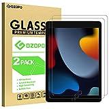 GOZOPO [2Pack] Protector de pantalla para iPad 8 generacion/ iPad 7 generacion /Protector Pantalla Cristal Templado iPad 10.2 2020/ 2019 [9H Dureza y borde 2.5D]