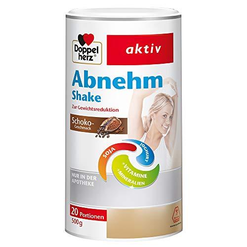 Doppelherz Abnehm Shake – Mahlzeitenersatz mit leckerem Schoko-Geschmack für eine gewichtskontrollierende Ernährung – 20 Portionen