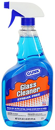 glass cleaners Gunk GC33 Glass Cleaner with Ammonia - 33 fl. oz, Blue