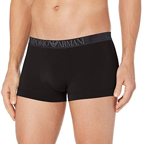 Emporio Armani Underwear Herren Trunk Unterwäsche, Nero - Black, L