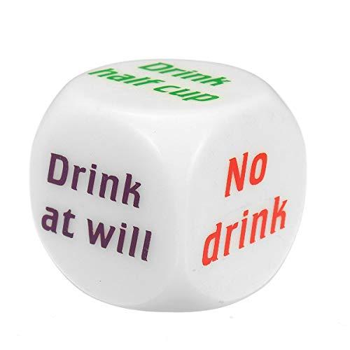 HDBN Spiel würfelt Set GetränkDecider würfeln Hochzeitsfestbevorzugung Dekoration 5pcs Trinken Dise Spiel Spielen Mora Dice Für herumtragen (Color : White, Size : 5pcs)