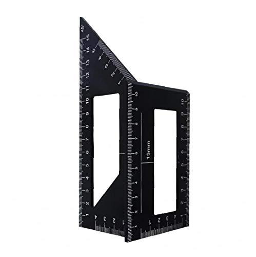 Hotaden Holzbearbeitungs Measure Ruler Platz Winkel Lineal-Werkzeug 45/90 ° Winkel Messen Werkzeug Carpenter Platz für Ingenieure Tischler