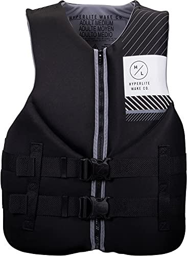 Hyperlite 2021 Mens Indy Neoprene Life Vest - Black/Grey XL