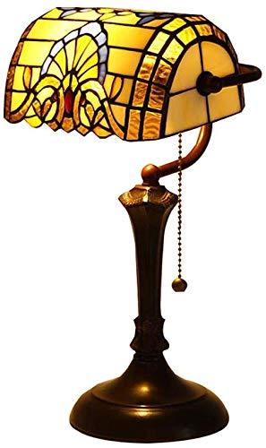 CCHWJX Tiffany Style Mini-tafel, barok, dimbaar, vitrail, opwarmen, bedlampje, 15,7 inch, legering, E27, hotel