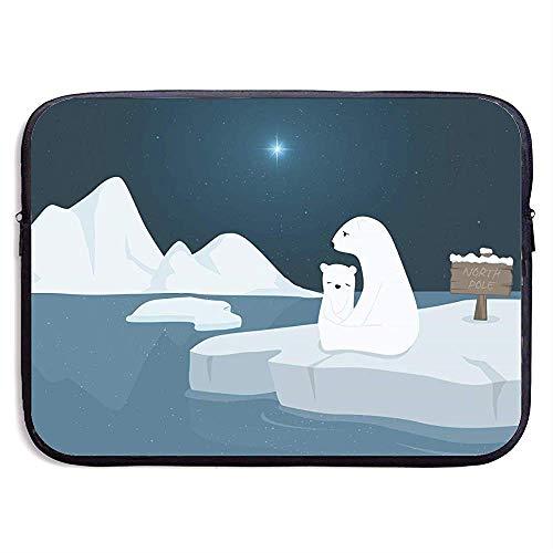 Polar Bear Laptop Sleeve- Stylish Cute Neoprene Notebook Handbag 33cm*25.5cm*3.5cm