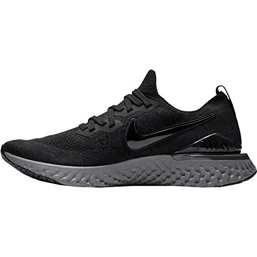 Nike Damen Epic React Flyknit2 Cross-Trainer, Black Black White Gunsmoke, 44 EU