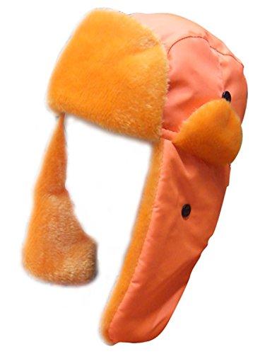 Chapeau avec fausse fourrure pour l'Hiver de haute visibilité - Orange - Taille unique.