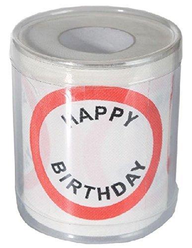 KMC Austria Design Geburtstag Toilettenpapier mit Aufdruck Verkehrszeichen Happy Birthday - Klopapier WC-Papier