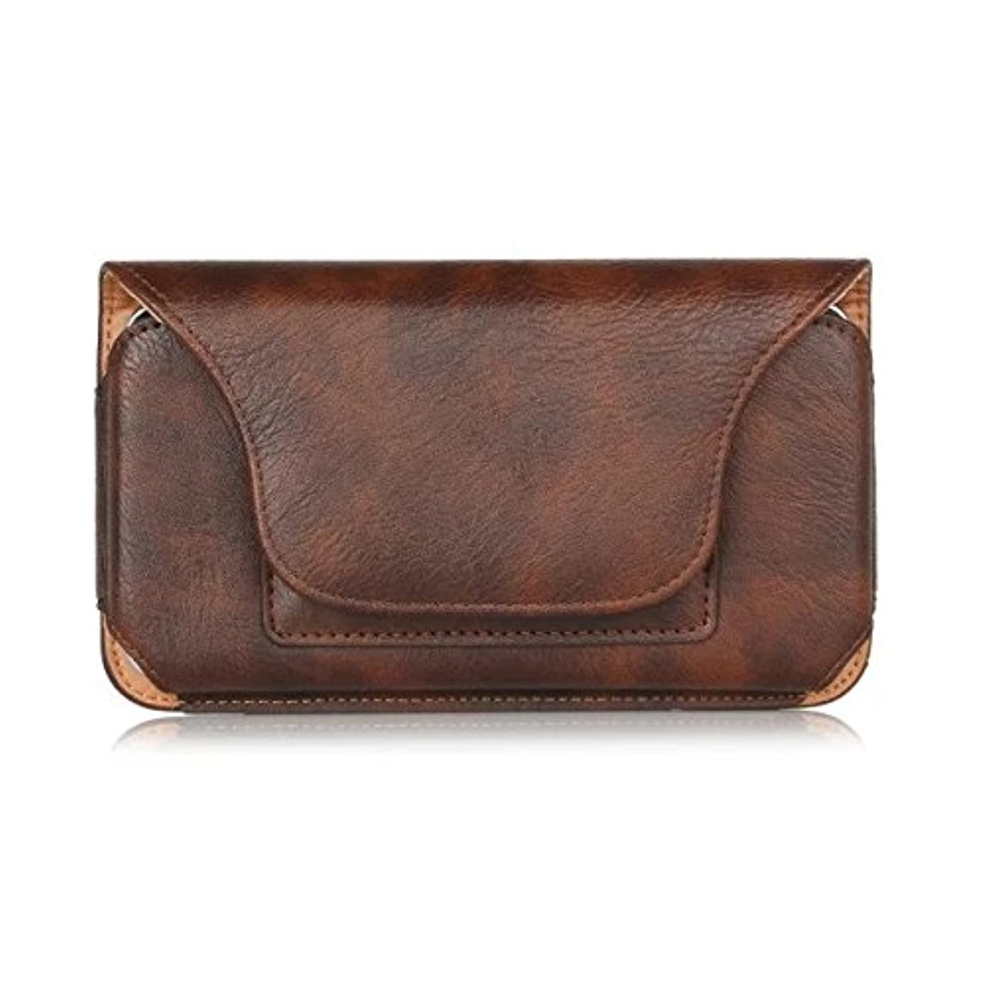 Vertical Faux PU Leather Travel Belt Clip Holster Pouch Cover Case for iPhone Xs Max/Samsung Galaxy Note9 / LG V40 / G7 ThinQ/Stylo 4 / Google Pixel 3 XL (Brown, XL)
