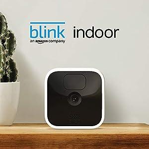 Blink Indoor, Caméra de surveillance HD sans fil avec deux ans d'autonomie, détection des mouvements et audio bidirectionnel   Kit 1 caméra