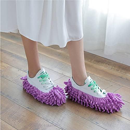 YYSD Zapatillas multifunción para trapeador, Funda para Zapatos, Calcetines de Microfibra Reutilizables Lavables para pies, Herramientas de Limpieza para Pisos, Funda para Zapatos